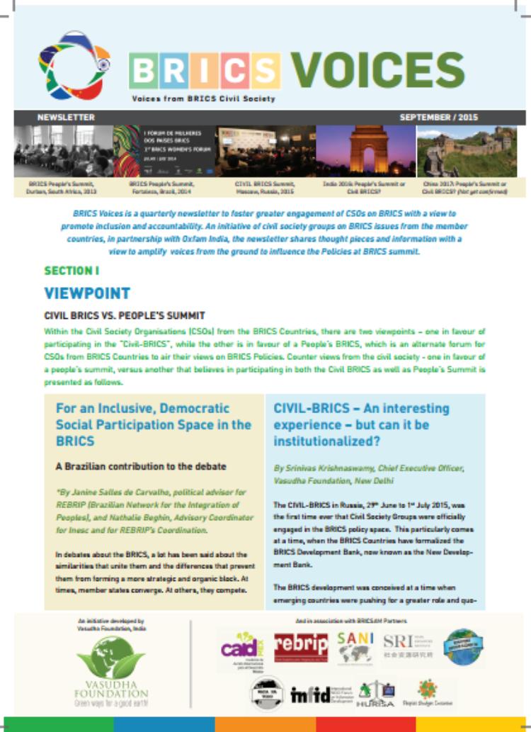 Newsletter: BRICS Voices